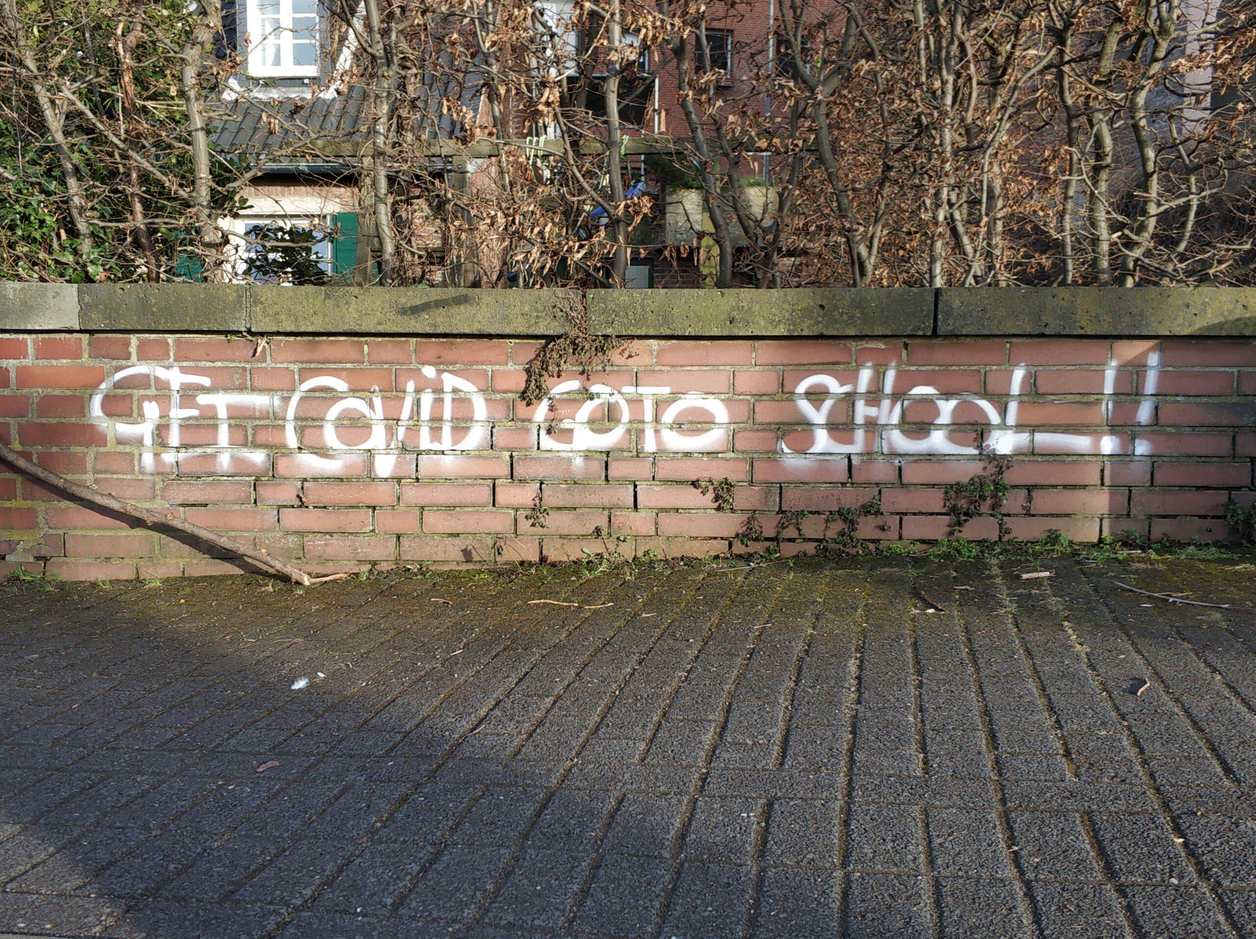 Pandemie, Grafitti school
