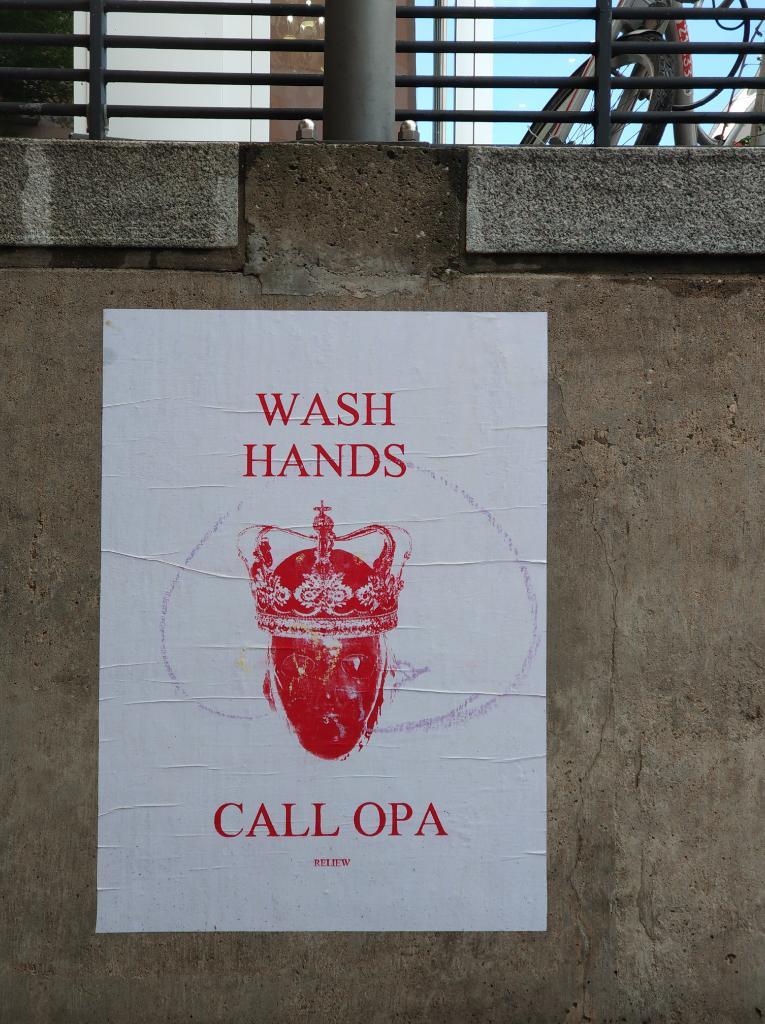 Pandemie, Plakat wash hands