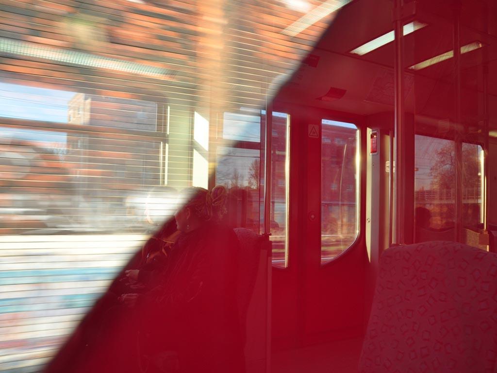 Spiegelungen S-Bahn Berlin